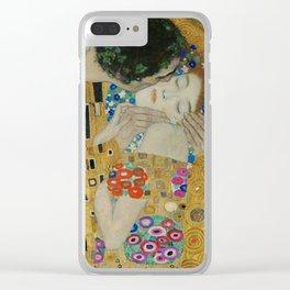 Gustav Klimt - The Kiss (detail) Clear iPhone Case