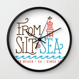 From Silt to Sea | Long Beach California Tribute | From Oil Workers to Surfers Wall Clock