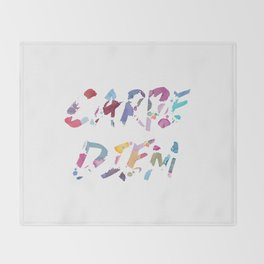 Carpe Diem Color Ink Throw Blanket