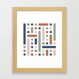 Brevard Fall Shapes Framed Art Print