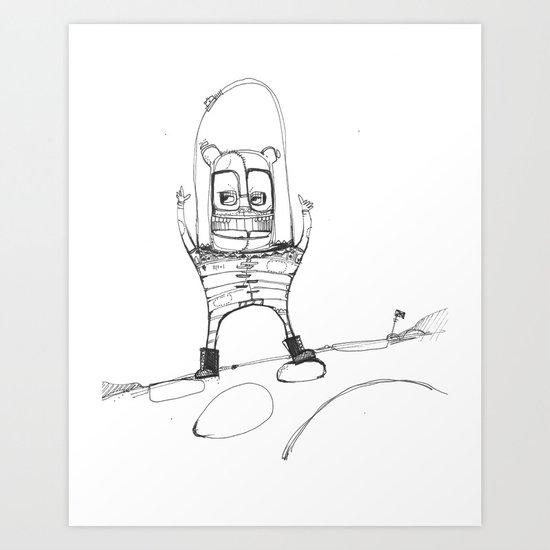 Spacebear Art Print