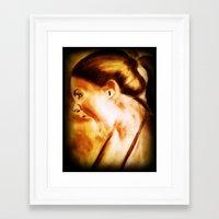 scream Framed Art Prints featuring scream by Gaetano Pergamo Art & Design
