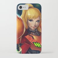 samus iPhone & iPod Cases featuring Samus by PooZ