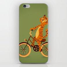 Tiger on the bike iPhone & iPod Skin