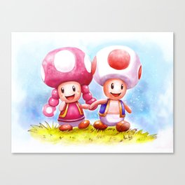 Toad and Todette 2 Canvas Print