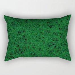 Emerald Green Thread Texture Rectangular Pillow