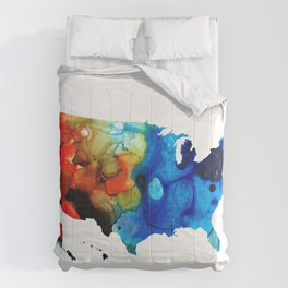 United States of America Map 4 - Colorful USA Comforters