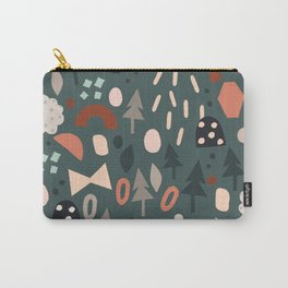 Holiday Forest Shapes Party Carry-All Pouch