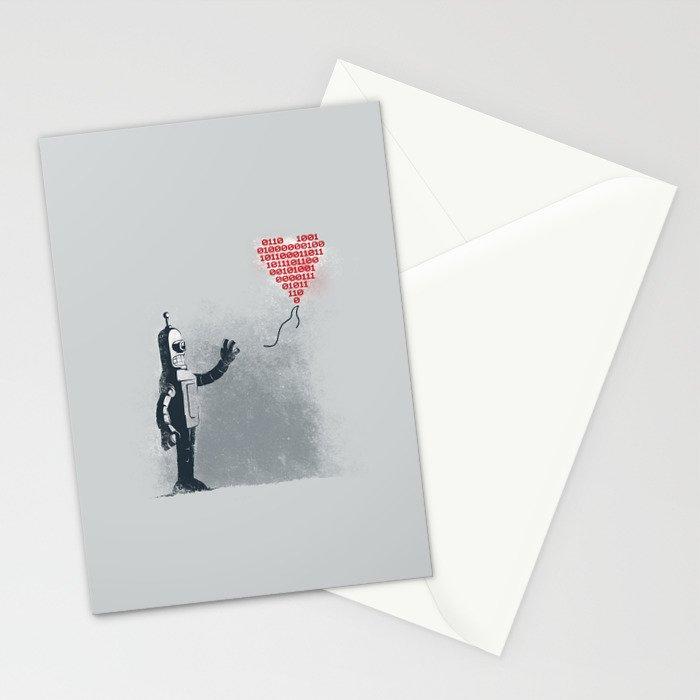 Binary Art Stationery Cards