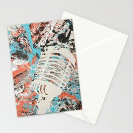 Paint Out Loud-Mic Stationery Cards