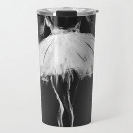 Ballerina black white, pastel on black paper Travel Mug