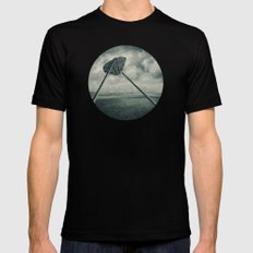 Go fly a kite MEDIUM Mens Fitted Tee Black