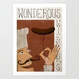 Wonderous Wieners Art Print