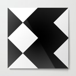 Abstraction 018 - Minimal Geometric Triangle Metal Print