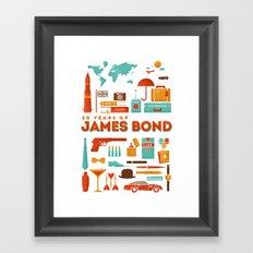 James Bond 50 Years  Framed Art Print