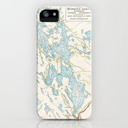 Vintage Muskoka Lakes Map iPhone Case