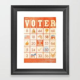 The Bingo Vote Framed Art Print