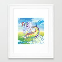 mlp Framed Art Prints featuring Rainbow Dash - MLP by mmishee
