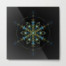 Seed of Eternal Life Mandala Metal Print