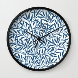 William Morris Navy Blue Botanical Pattern 9 Wall Clock