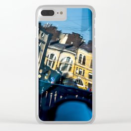 The reflected city Clear iPhone Case