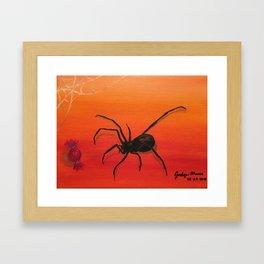 Spider Bait Framed Art Print