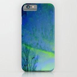 Green fairy lights iPhone Case