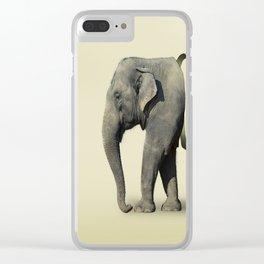 Ribbon Elephant Clear iPhone Case