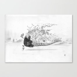 Touching you Canvas Print