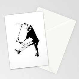 Deck Grabbing - Stunt Scooter Trick Stationery Cards