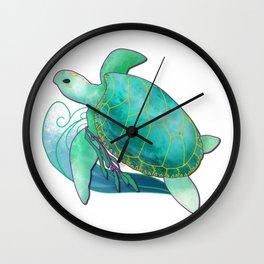 Sea Turtle - Sojourner's Spirit Wall Clock