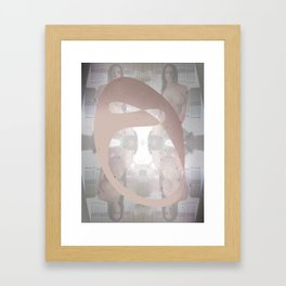 Sexz mask Framed Art Print