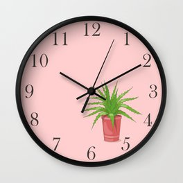 aloe on the pink Wall Clock
