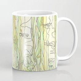 Birch Trees in Early Morning Coffee Mug