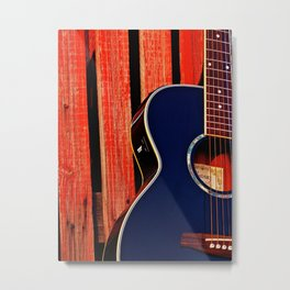6 Strings and a Barn Metal Print