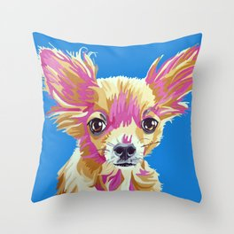 Lucas the chihuahua Throw Pillow