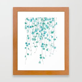 string of hearts watercolor Framed Art Print