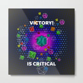Victory! is Critical Metal Print