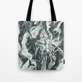 Black smoke, White feathers Tote Bag