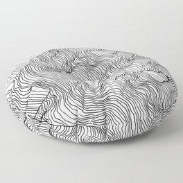 Vertigo Adrift (Vector) Floor Pillow