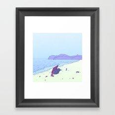 Beach Notes Framed Art Print