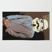 seinfeld Area & Throw Rugs featuring Stormtrooper by Ryan Hill