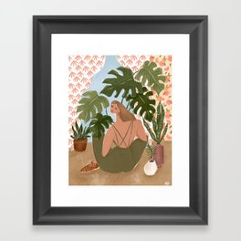 Bringing the outside in Framed Art Print