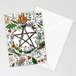 Witch pattern design Stationery Cards