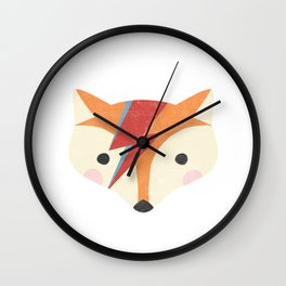 Bowie Fox Wall Clock