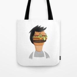 Burger Faced Tote Bag