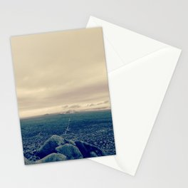 one way ticket to the mountain Stationery Cards