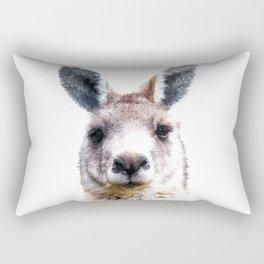 Kangaroo Portrait Rectangular Pillow