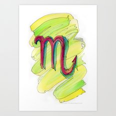 Scorpio Flow Art Print