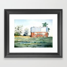 Rainbow Barn Framed Art Print